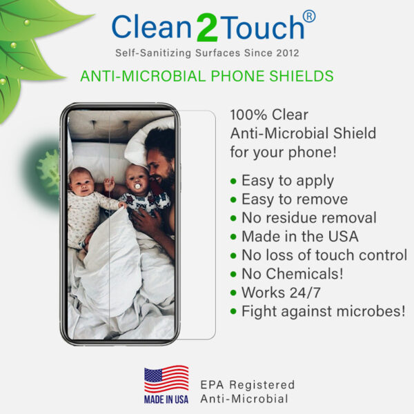 Anti-microbial phone shields