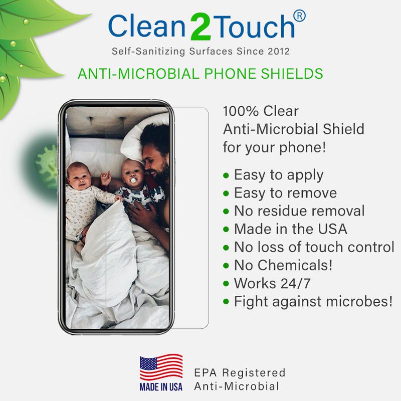 Anti-microbial phone shields