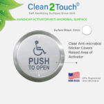 circle handicap plate anti-microbial protectors