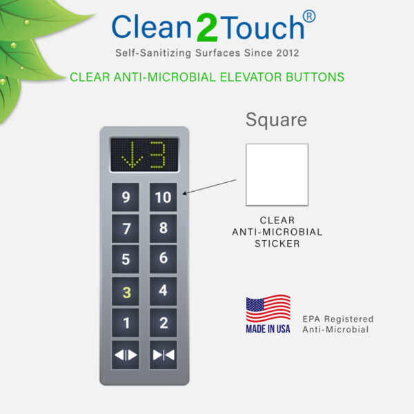 anti-microbial elevator button protectors