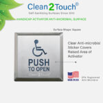 square handicap plate anti microbial protectors